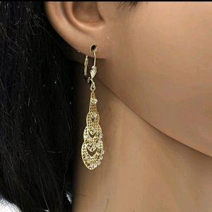 💖 New! Gold Halo Dangle Earrings